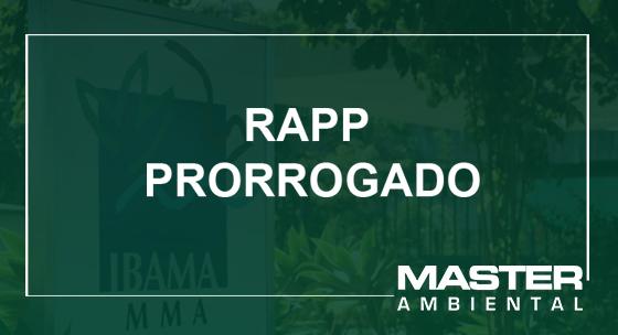 RAPP Prorrogado